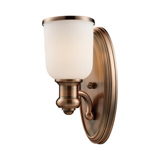 Brooksdale collection 1-Light Sconce In Antique Copper