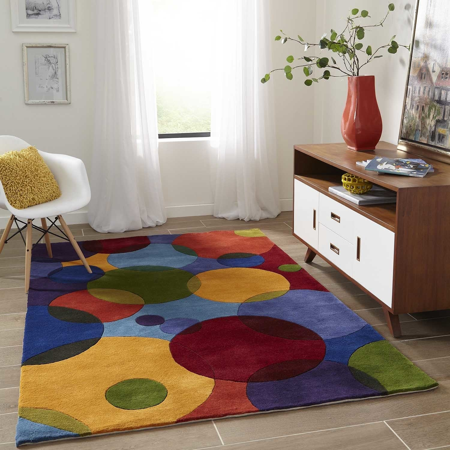 Hand Tufted And Carved Wool Rug