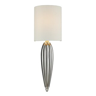 Martique Collection 1-Light Sconce In Chrome And Silver Leaf