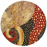 Momeni New Wave Multicolor Hand-Tufted Wool Rug (5'9 X 5'9 Round)