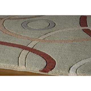 Soho Curvature Wool Area Rug (2' x 3')