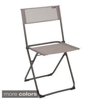 Lafuma Anytime Brown Frame Folding Chairs (Set of 2)