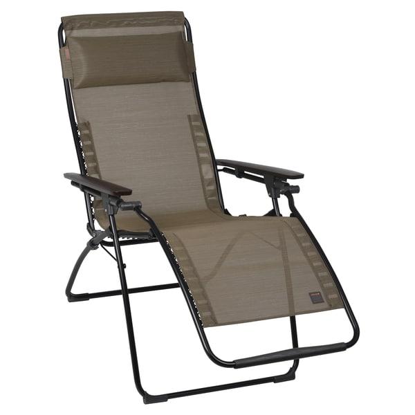 Lafuma futura black frame zero gravity recliner free - Chaise camping lafuma ...