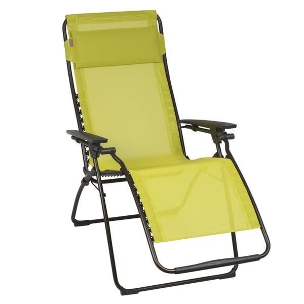 Lafuma futura brown frame zero gravity recliner free - Chaise camping lafuma ...