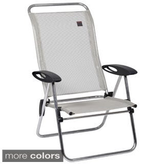 Low Elips Aluminum Folding Beach Chair with Adjustable Back Set of 4