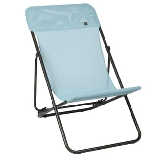Lafuma Maxi Transat Brown Frame Folding Sling Chair (Set of 2)