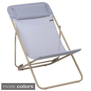 Lafuma Maxi Transat Plus Sand Frame Folding Sling Chair (Set of 2)