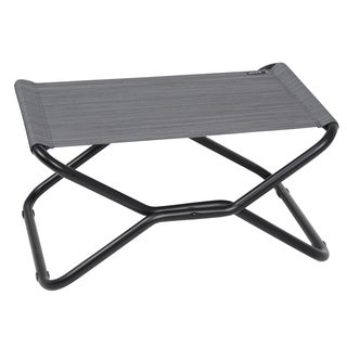 Lafuma Next Black Frame Folding Footrest/ Stool