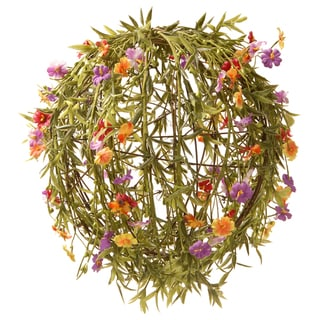 Link to 12-inch Orange/ Yellow and Pink Flower Ball Similar Items in Garden Accents