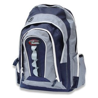 Multi-purpose Extra Storage Navy/ Silver Backpack