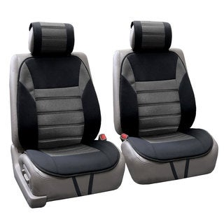 FH Group Grey Thick Foam Padding Seat Cushion Pads (Set of 2)