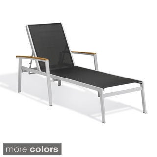 Oxford Garden Travira Black Chaise Lounge (Set of 2)