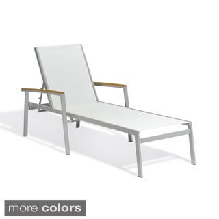 Oxford Garden Travira White Chaise Lounge (Set of 4)