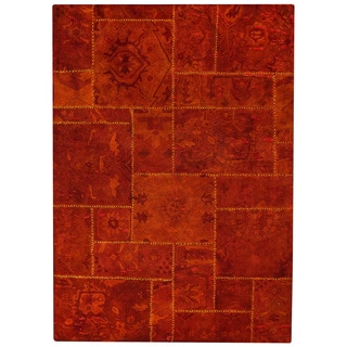 M.A.Trading Hand-tufted Sarangi Rust New Zealand Wool Rug (5'2 x7'6)