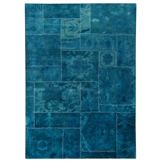 M.A.Trading Hand-tufted Sarangi Turquoise New Zealand Wool Rug (5'2 x7'6)