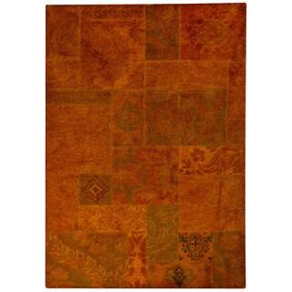 M.A.Trading Hand-tufted Sarangi Orange New Zealand Wool Rug (6'6 x 9'6)