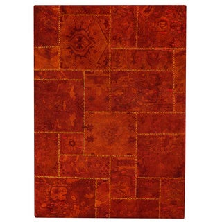 M.A.Trading Hand-tufted Sarangi Rust New Zealand Wool Rug (6'6 x 9'6)