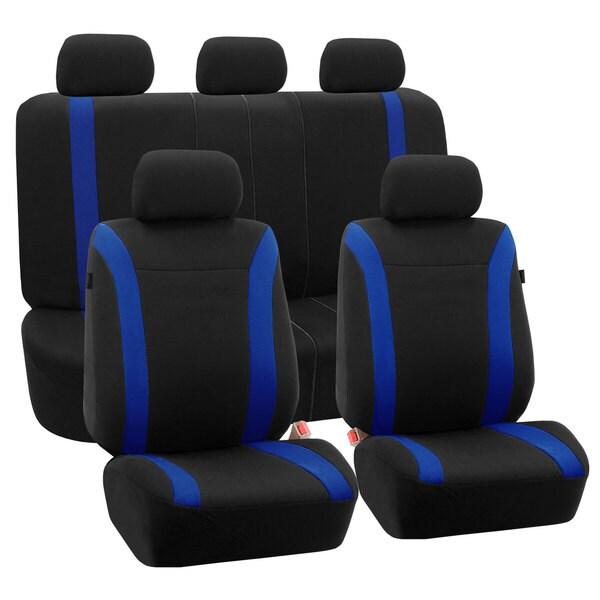 Fh Group Blue Black Cosmopolitan Flat Cloth Auto Seat