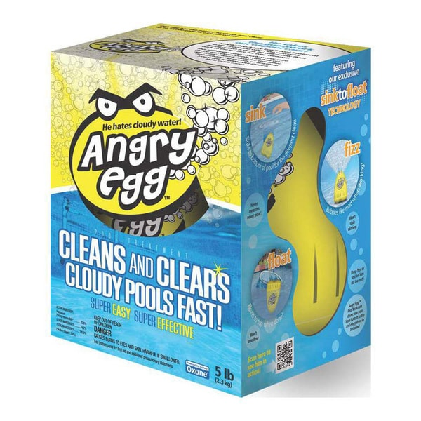 Angry Egg Swimming Pool Treatment