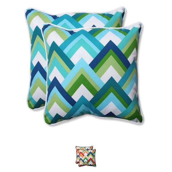 Pillow Perfect Outdoor Resort 18.5-inch Throw Pillow (Set of 2)