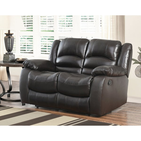 Peachy Abbyson Brownstone Leather Reclining Loveseat Unemploymentrelief Wooden Chair Designs For Living Room Unemploymentrelieforg