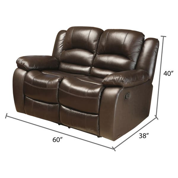 Astonishing Shop Abbyson Brownstone Top Grain Leather Reclining Loveseat Ocoug Best Dining Table And Chair Ideas Images Ocougorg