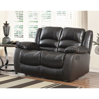 Abbyson Brownstone Top Grain Leather Reclining Loveseat
