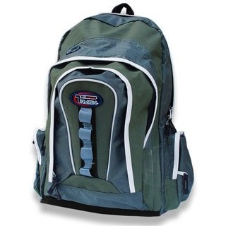 Multi-Purpose Back to School Extra Storage Moss/ Olive Backpack