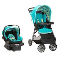Safety 1st Smooth Ride Travel System Lake Blue Plastic Stroller and ...