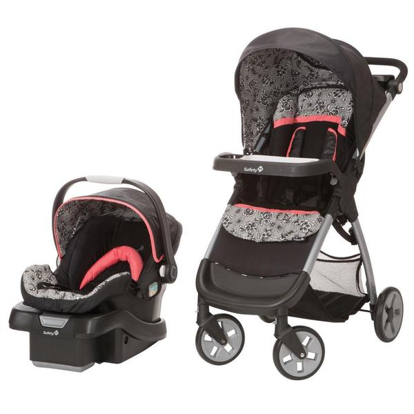 safety 1st amble luxe with onboard 35 car seat travel system in gentle lace free shipping. Black Bedroom Furniture Sets. Home Design Ideas