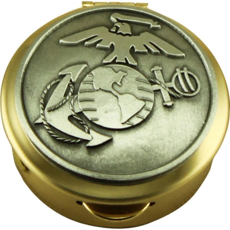 Military United States Marine Corps Pill Box Keepsake