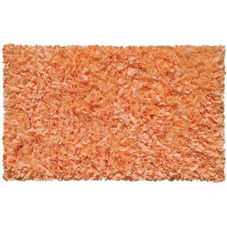 Tangerine Cotton Jersey Shag Rug (4'7 x 7'7)