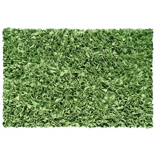 Lime Cotton Jersey Shag Rug (4'7 x 7'7)