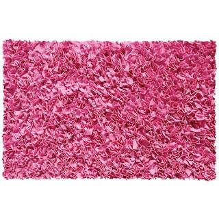 Bubble Gum Cotton Jersey Shag Rug (4'7 x 7'7)