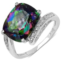 Malaika 4.70 Carat Mystic Topaz and White Topaz Ring in Sterling Silver