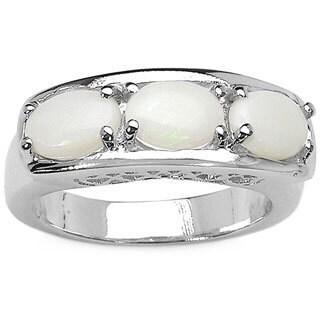 Malaika 1.53 Carat Genuine Opal .925 Sterling Silver Ring