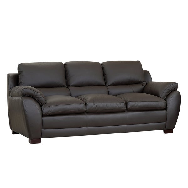 Abbyson Living Monarch Top Grain Brown Leather Sofa Reviews