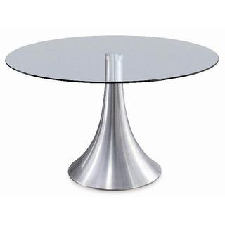 Cafe Tempered Glass Top Aluminum Leg Table