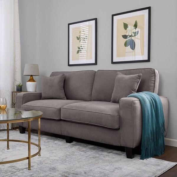 """Serta RTA Palisades Collection 78"""" Sofa in Kingston Gray"""