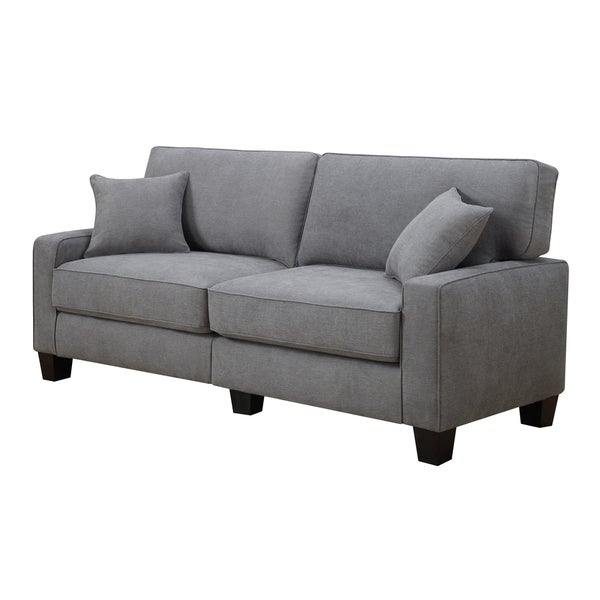 Superieur Serta RTA Martinique Collection 78 Inch Kona Grey Fabric Sofa