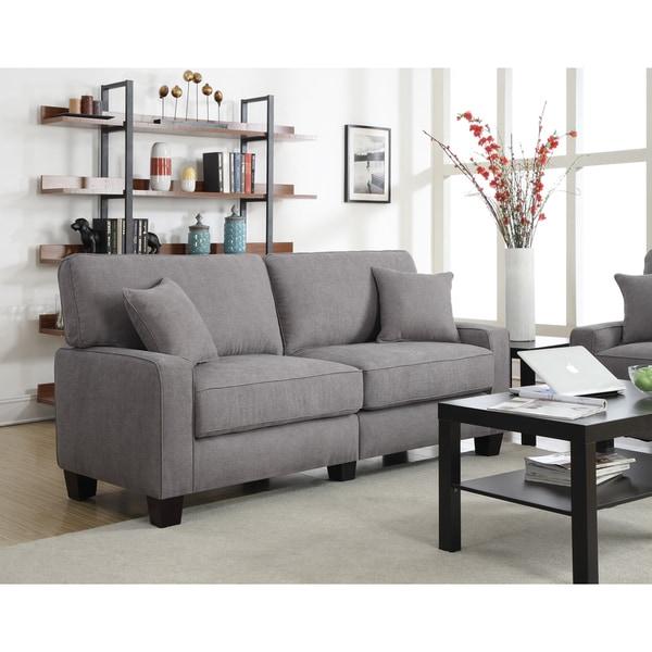 Serta RTA Martinique Collection 78-inch Kona Grey Fabric Sofa ...
