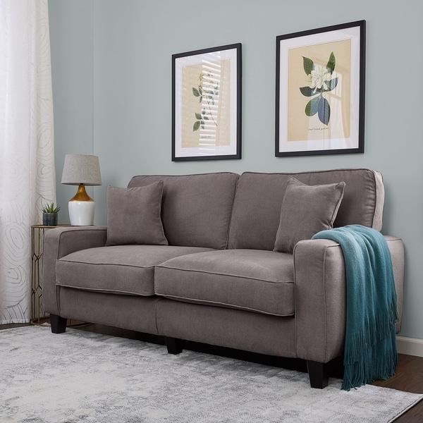 Shop Serta Rta Palisades Collection 73 Inch Glacial Grey Sofa Free