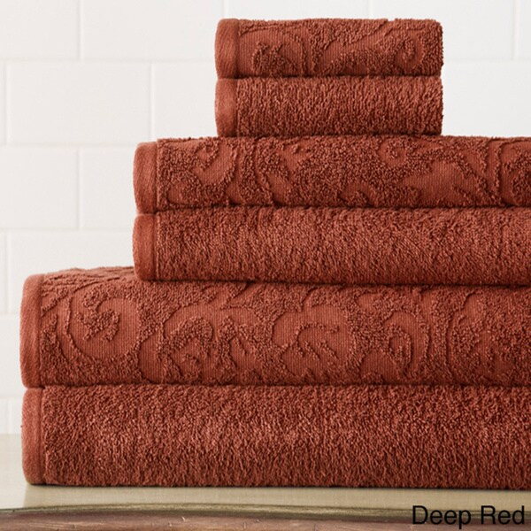 Amrapur Overseas 6-Piece Jacquard Damask Towel Set