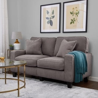 Serta RTA Martinique Collection 61-inch Kona Grey Fabric Loveseat Sofa