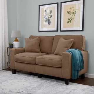 serta rta martinique collection 61inch dominica earth fabric loveseat sofa