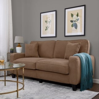 Exceptional Serta RTA Palisades Collection 73 Inch Fawn Tan Sofa