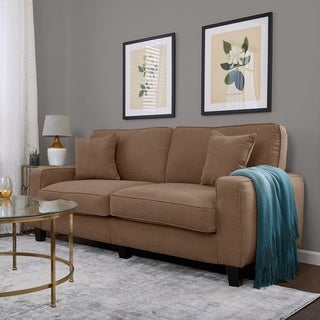 Serta RTA Palisades Collection 78-inch Fawn Tan Sofa Fabric Sofa