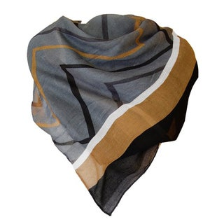 Neutral Chevron Pattern Sheer Scarf