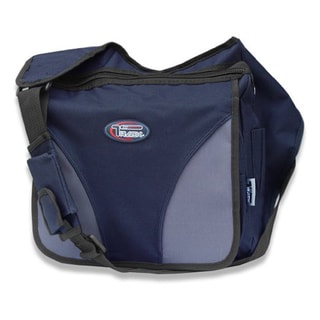 Navy Crossbody Laptop Messenger Shoulder Bag