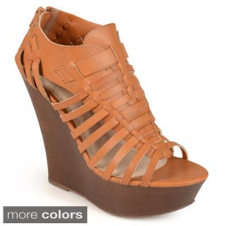 Journee Collection Women's 'Acacia' Open Toe Platform Wedges